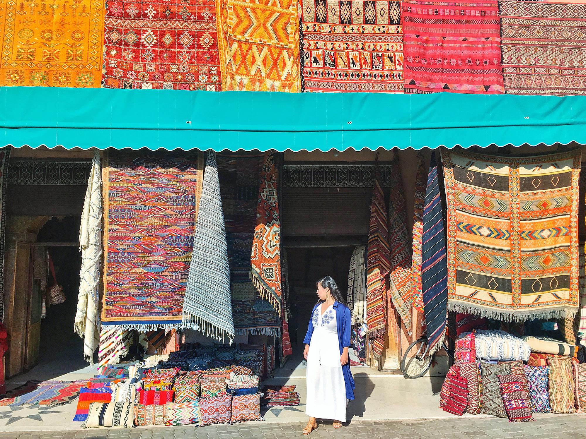 The Souks of Marrakech, Carpets!