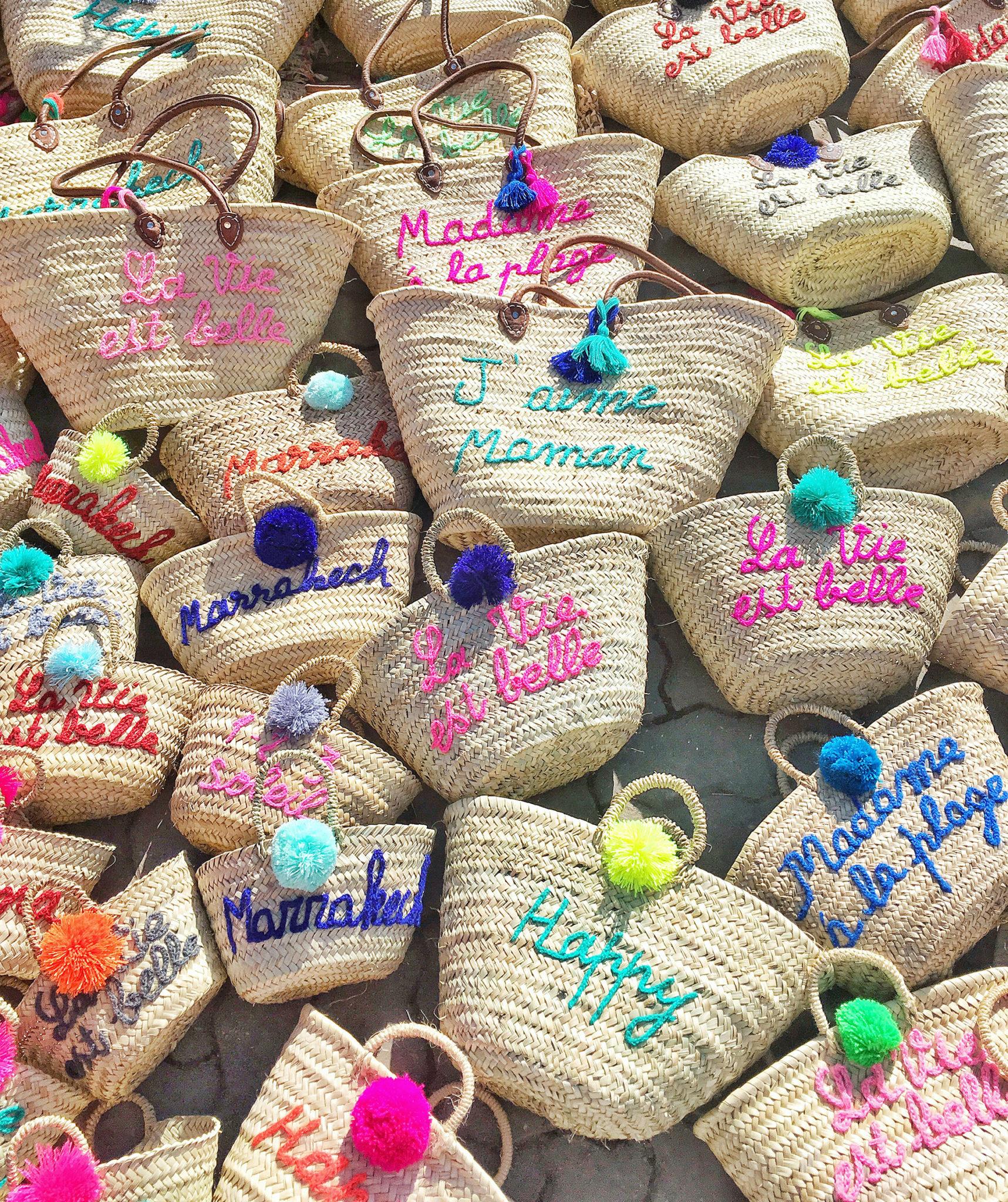 The Souks of Marrakech, Custom Woven Bags