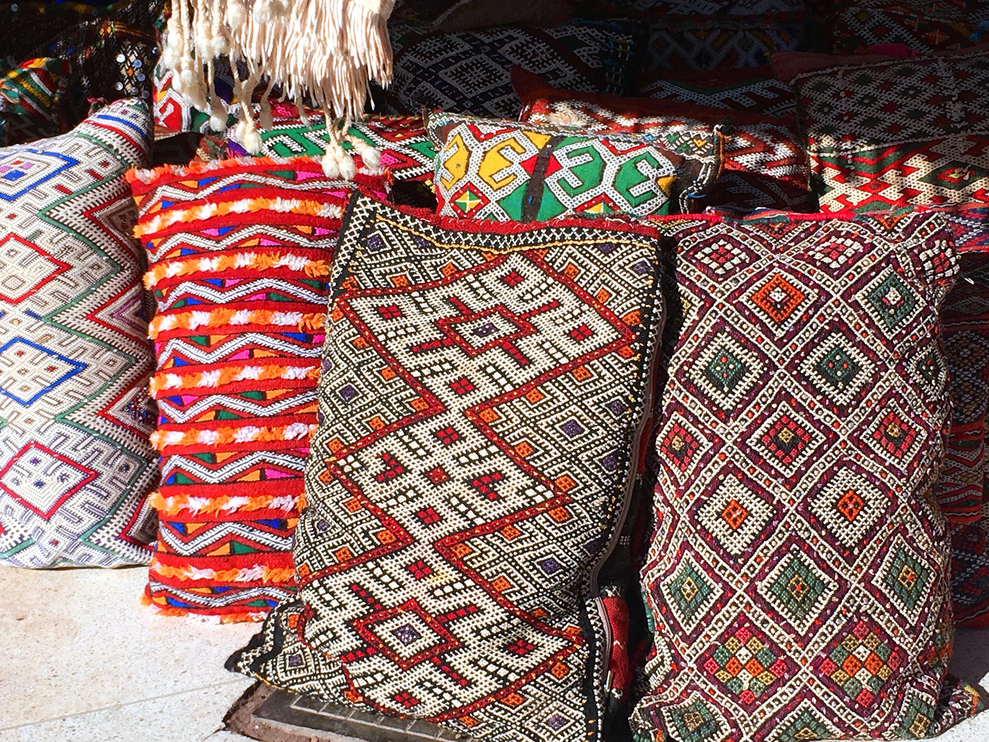 The Souks of Marrakech, Kilim pillow cases