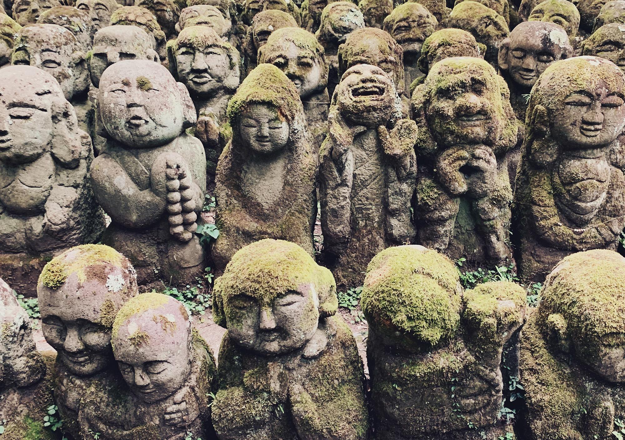 Otagi Nenbutsu-ji - rakan sculpture