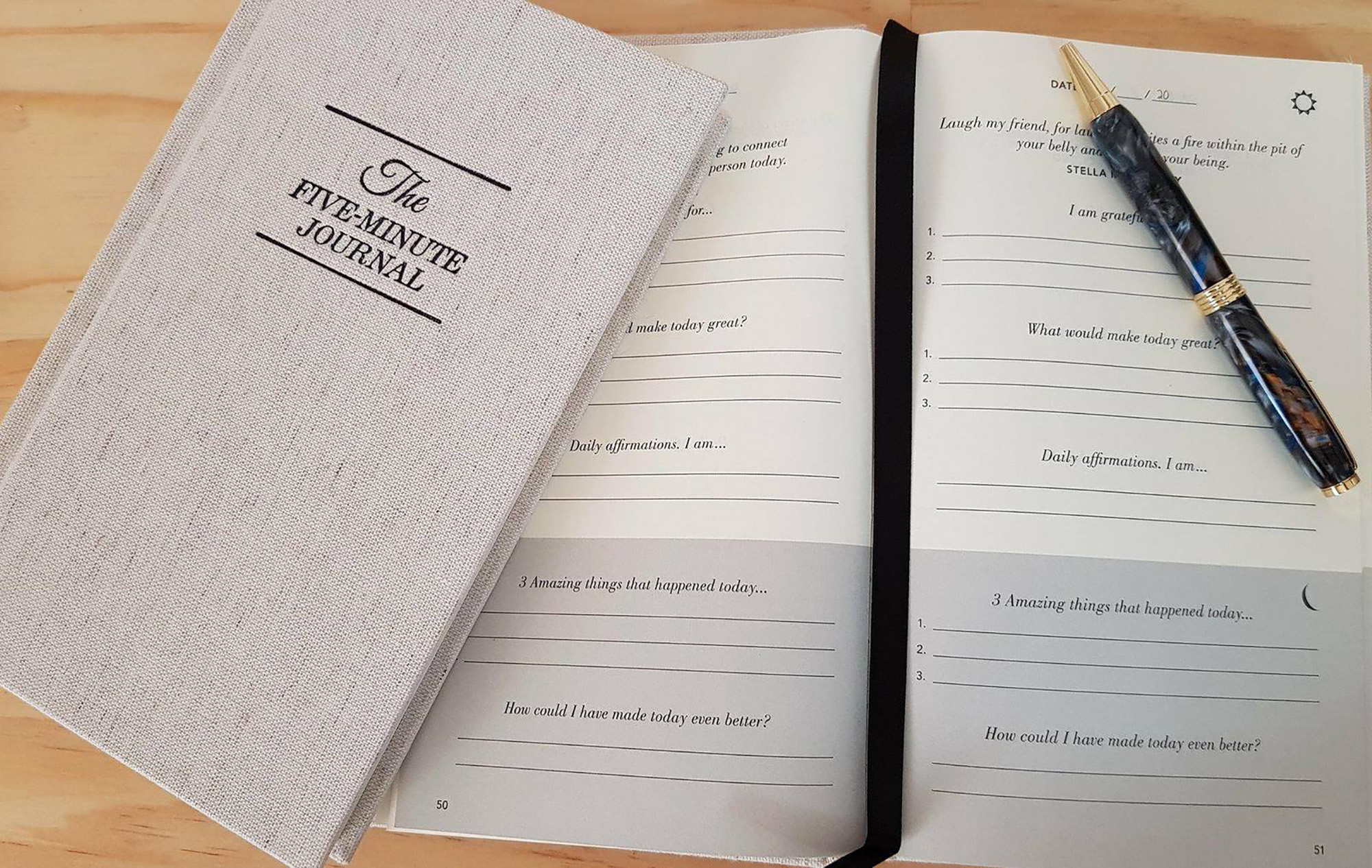 Types of Journals - Five Minute Journal