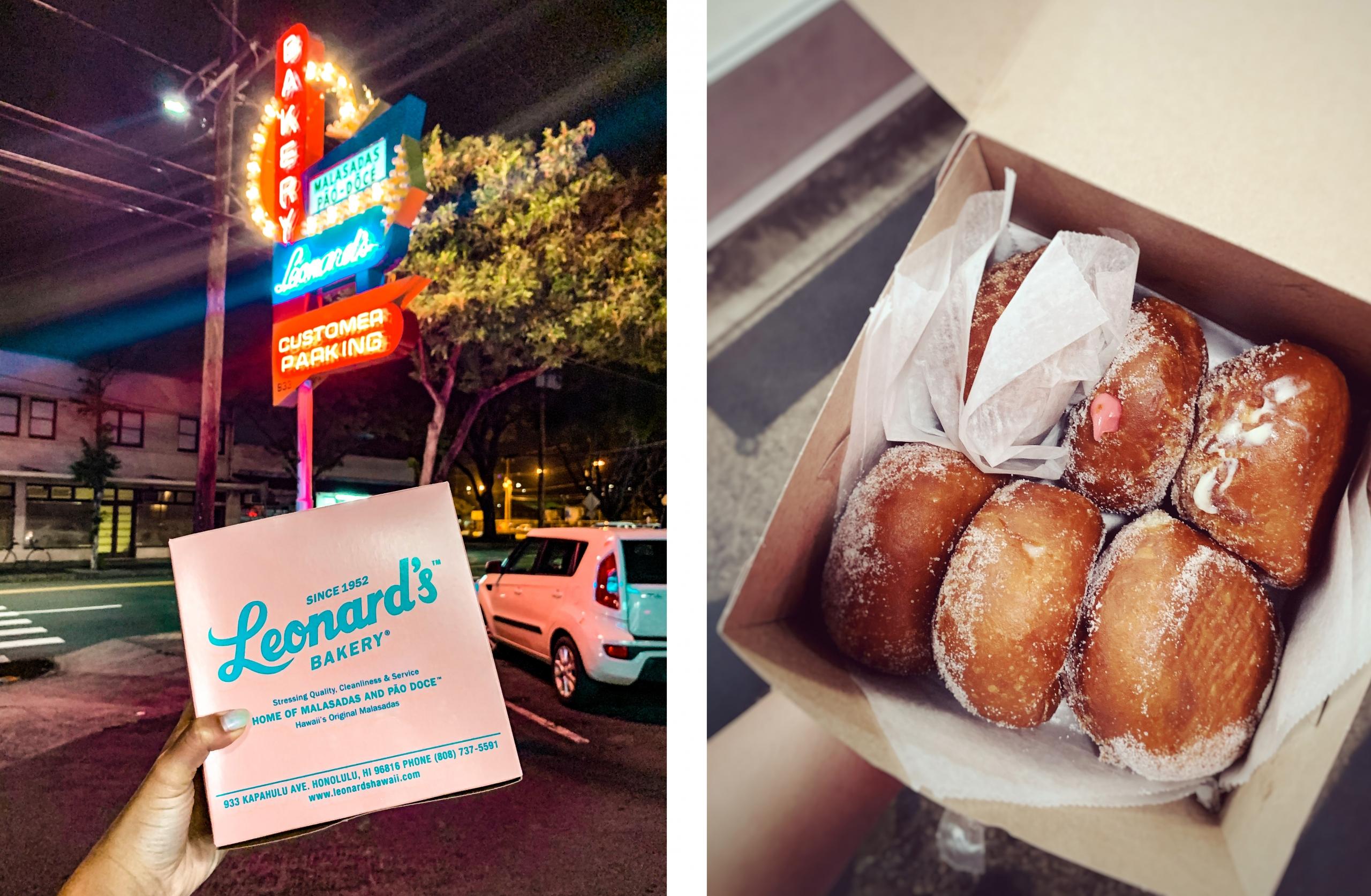 Places to eat in Oahu, Hawaii - Leonards Bakery Malasadas