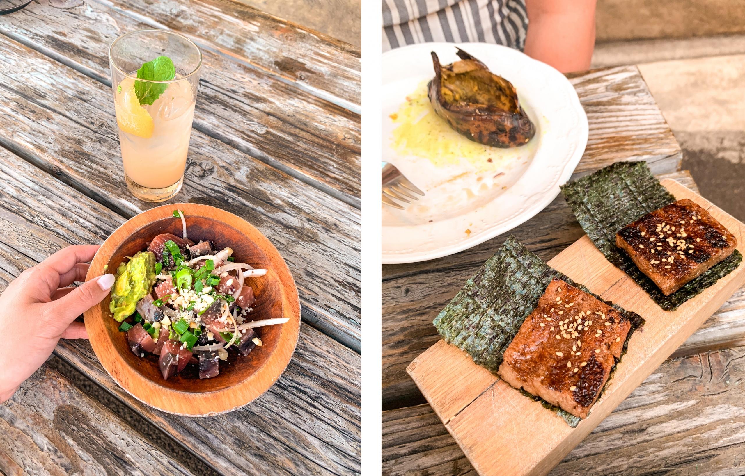 Places to eat in Oahu, Hawaii - Mud Hen Water food