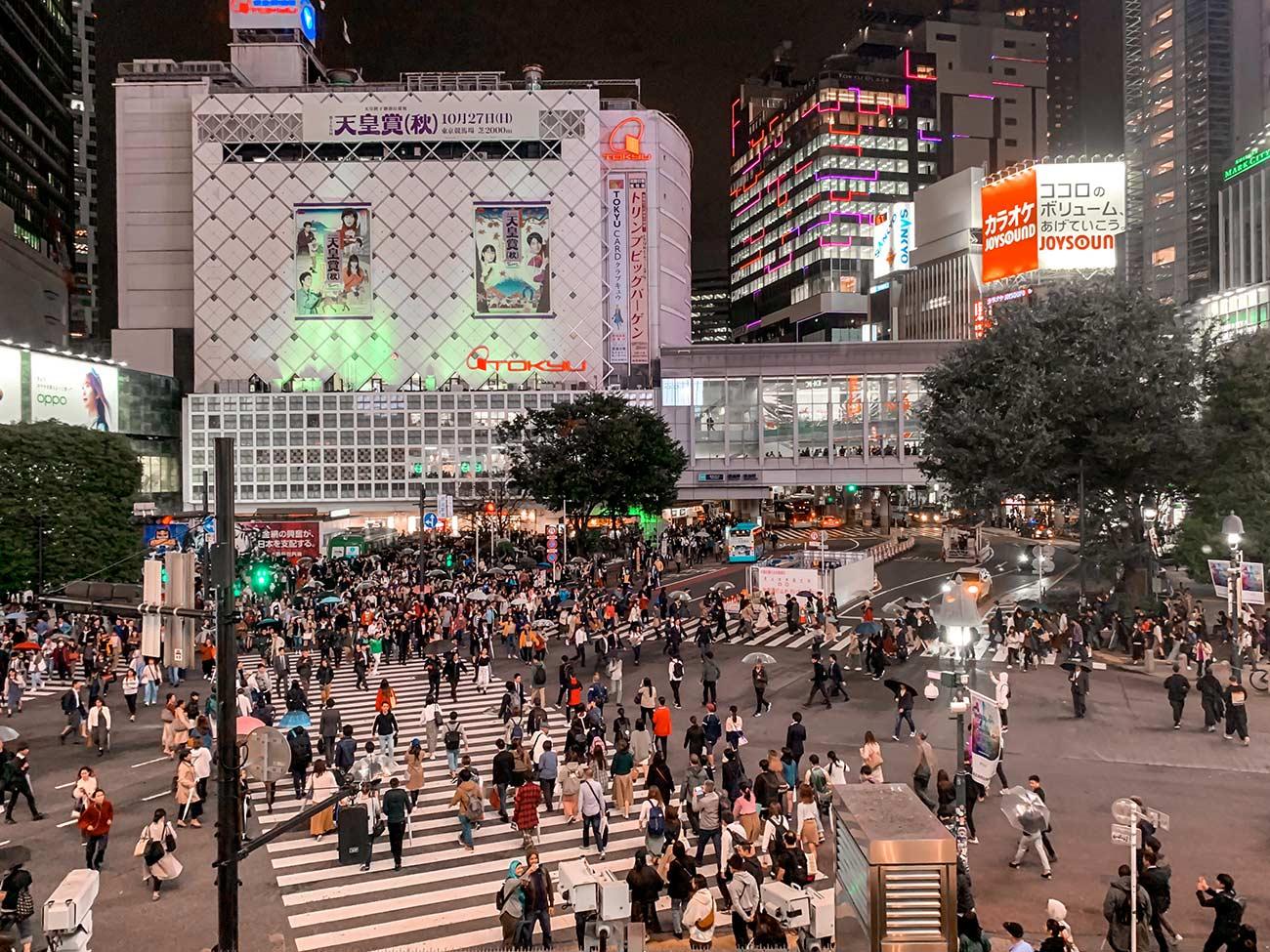 5-day Tokyo Itinerary - Shibuya Crossing