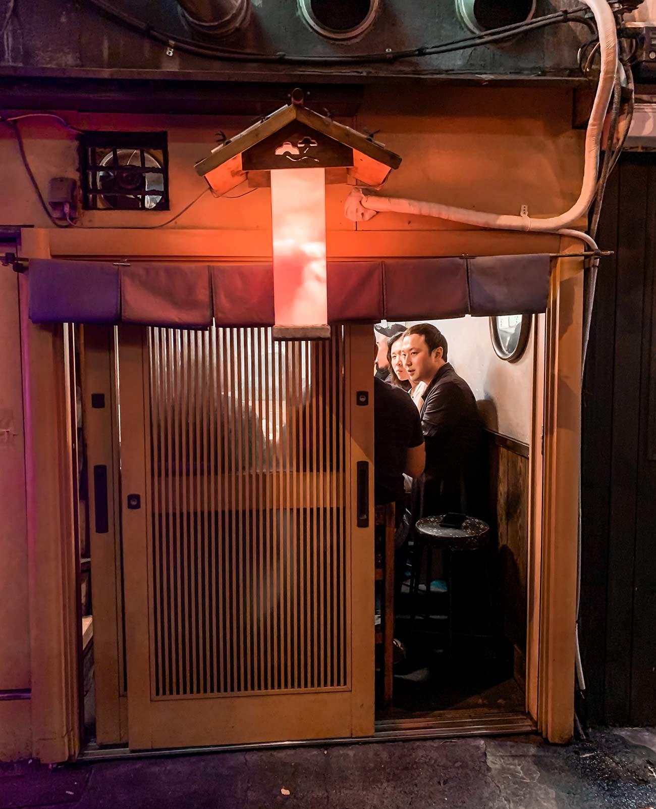 Tiny bar in a Tokyo Yokocho