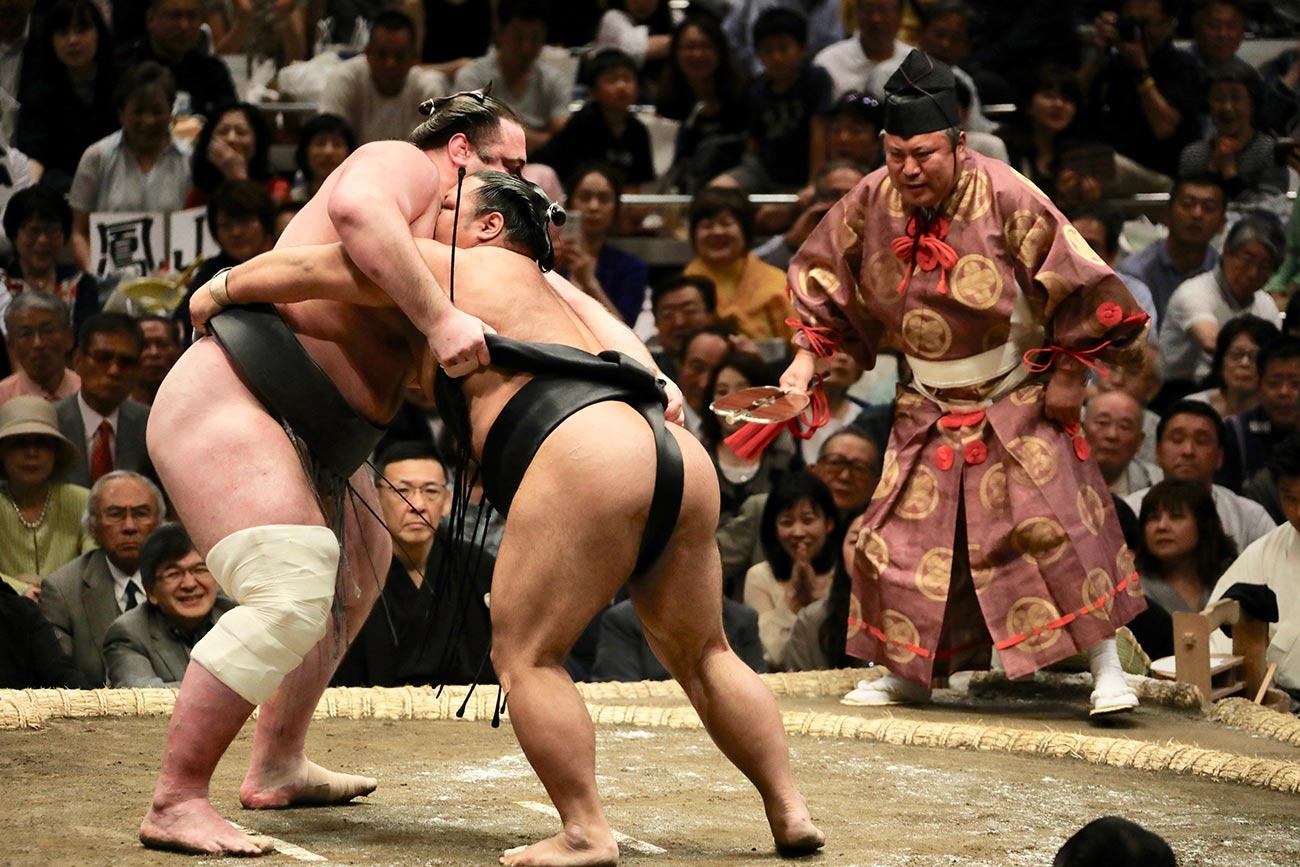 Sumo Restling tournament in Tokyo