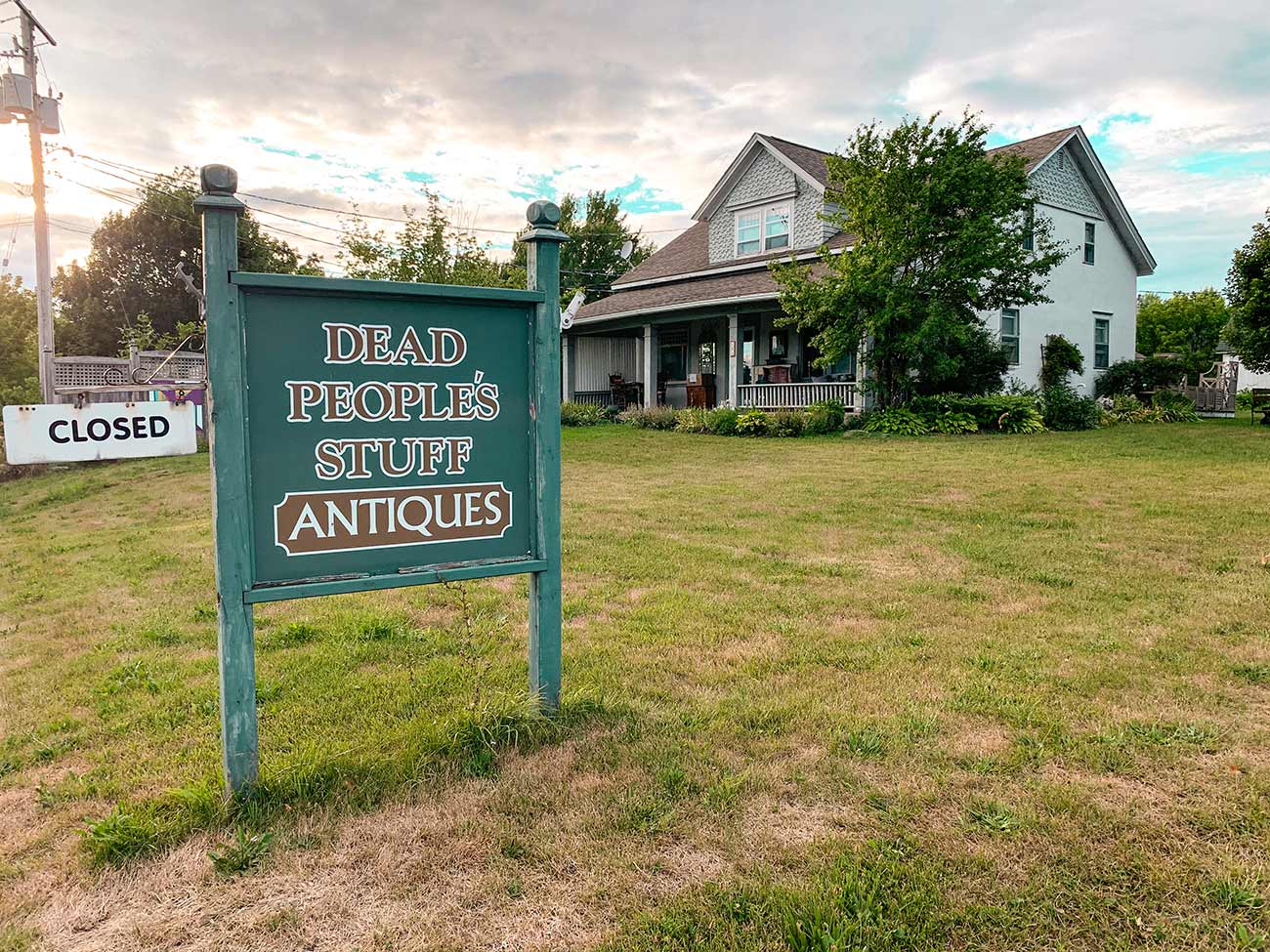 things to do in Prince Edward County - antique shopping at Dead People's Stuff